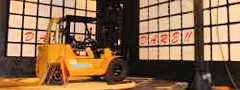 DARE!! performs EMC tests on forklift